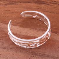 6mm Hawaiian Scroll See Through Toe Ring