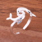 Hawaiian Double Dolphin Toe Ring