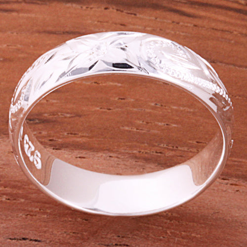 4mm Hawaiian Scroll Smooth Edge Toe Ring