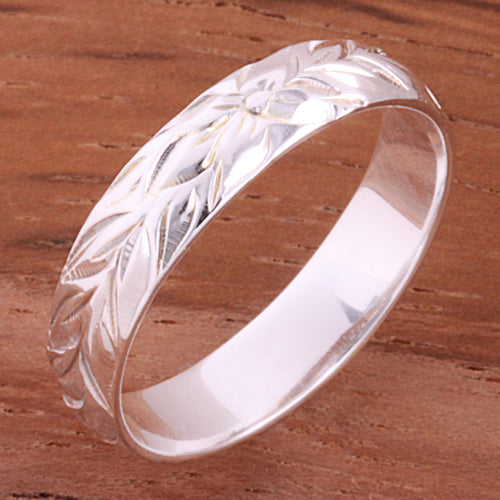 4mm Hawaiian Maile Smooth Edge Toe Ring
