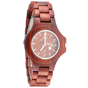 Red Sandalwood Wooden Watch Large Size Japan Movement Small Size
