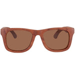 Red Wood Sunglasses UV 400 Protection Lens Rectangle Frame with nose