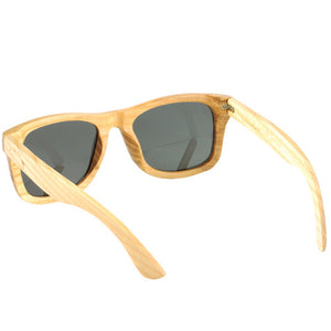 Maple Wood Sunglasses UV 400 Protection Lens Rectangle Frame with nose