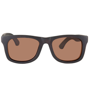 Black Sandalwood Sunglasses UV 400 Protection Lens Rectangle Frame with nose