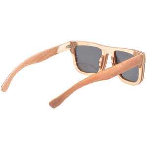Classic Style Skateboard Wood Sunglasses Two Tone UV 400 Protection Lens