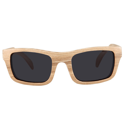 Maple Wood Sunglasses UV 400 Protection Lens Rectangle Dome Frame