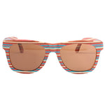 Skateboard Wood Rainbow Color Sunglasses UV400 Protection Lens