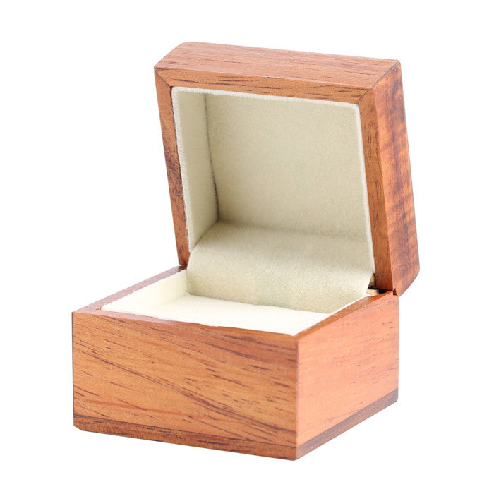 Hand-made Koa Wood Ring Box Matte Finished