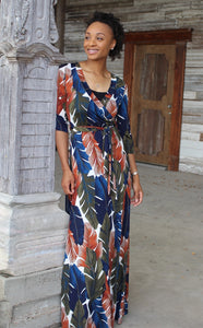 Fall Leaves Maxi Dress