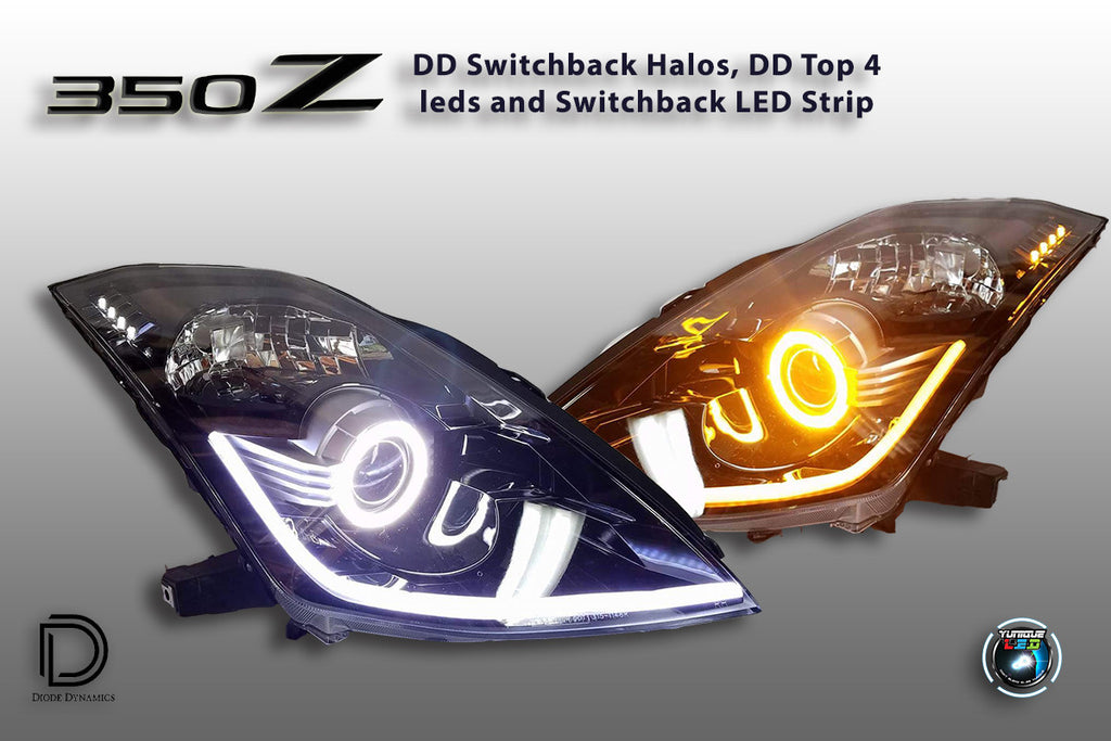 03 08 Nissan 350z Custom Headlights Per Set Yunique L E D Retrofits