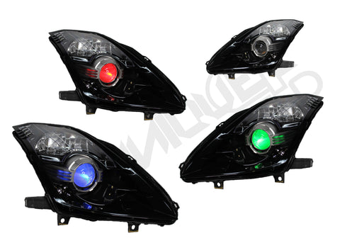 Yunique LED 03-09 Nissan 350z RGB Demon eyez Headlights