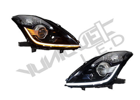 Yunique LED 03-09 Nissan 350z Stage 1 Switchback Headlights