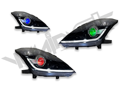 Yunique LED 03-09 Nissan 350z RGB Demon Eyez Stage 2 Headlights