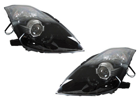 DEPO JDM-Style Black D2S Housing Projector Headlights For 2003-2009 Nissan 350Z