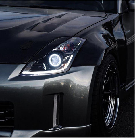 Yunique LED 03-09 Nissan 350z Stage 2 Switchback Headlights