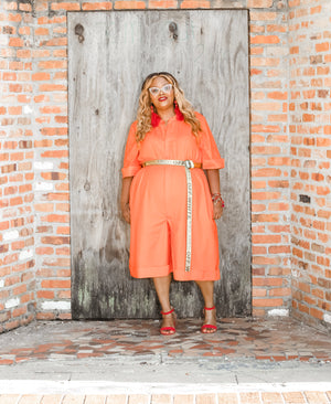 Big Drip Romper (Orange)