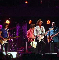 The Rolling Stones performing in 2006