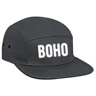 Camper Cap - Bohemian Guitars 5 Panel Camper Cap - Boho - Charcoal Grey