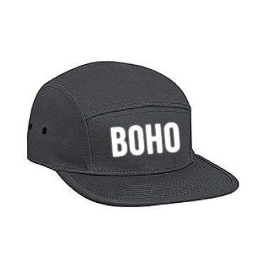Bohemian Guitars 5 Panel Camper Cap - Boho - Charcoal Grey-Camper Cap-Bohemian Guitars