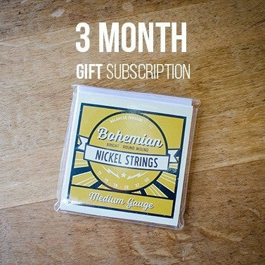 Guitar String GIFT Subscription: 3 Months