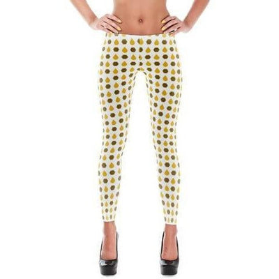 Leggings - Bohemian Guitars All-Over-Print Leggings - Honey