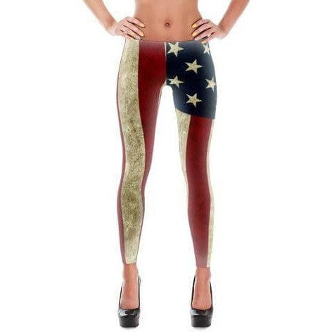 Leggings - Bohemian Guitars All-Over-Print Leggings - Vintage Americana