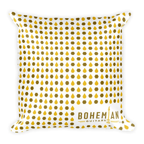 Pillow - Bohemian Guitars -18x18 Pillow - Honey