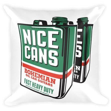 Bohemian Guitars -18x18 Pillow - Nice Cans