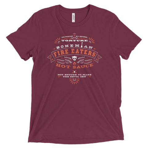 Shirts - Triblend Short Sleeve T-Shirt - Maroon - Hot Sauce