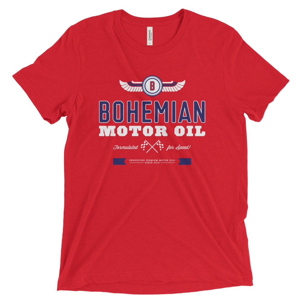 Triblend Short Sleeve T-Shirt - Motor Oil-shirts-Bohemian Guitars