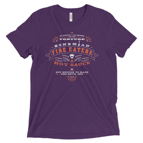 Shirts - Triblend Short Sleeve T-Shirt - Purple - Hot Sauce