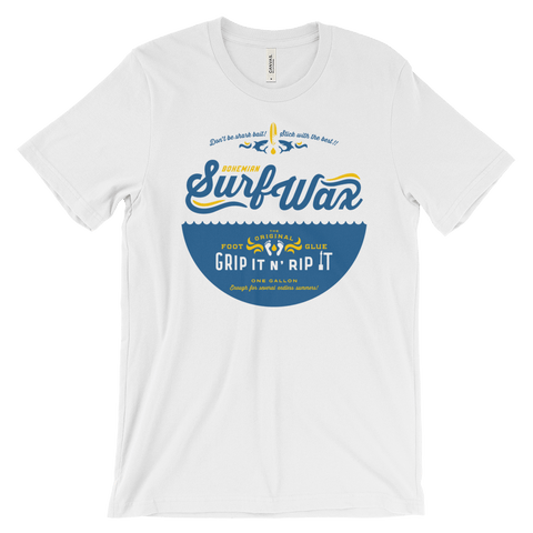 Shirts - Triblend Short Sleeve T-Shirt - White - Surf Wax
