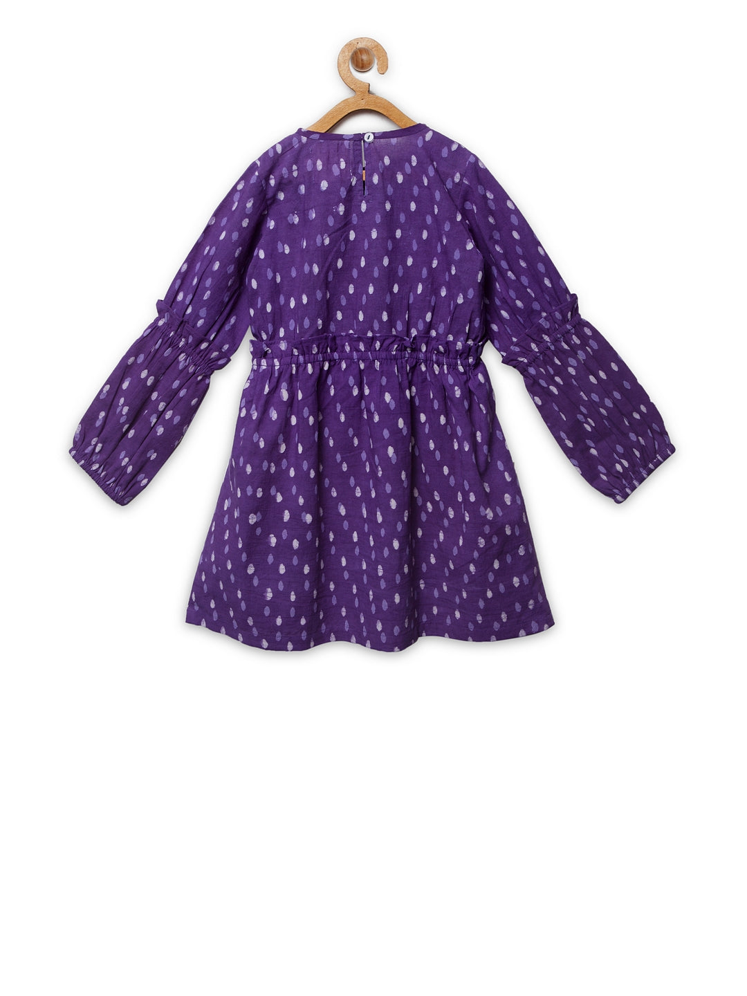 Purple Printed Ruffled Frock
