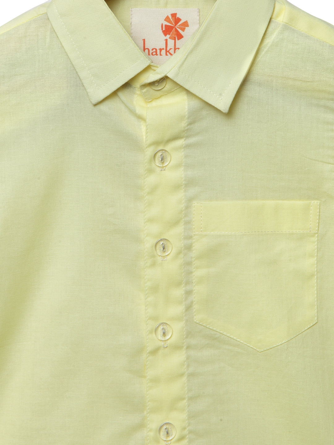 Light Yellow collar shirt