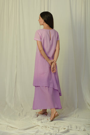 Lavender shaded single layer dress