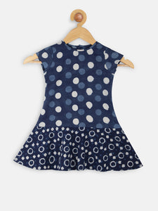 Polka drop waist flounce dress