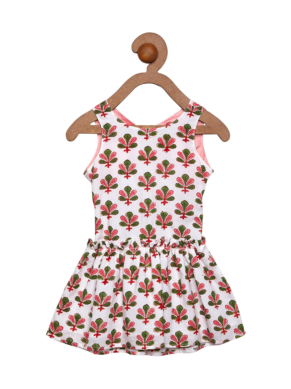 floral back knot dress