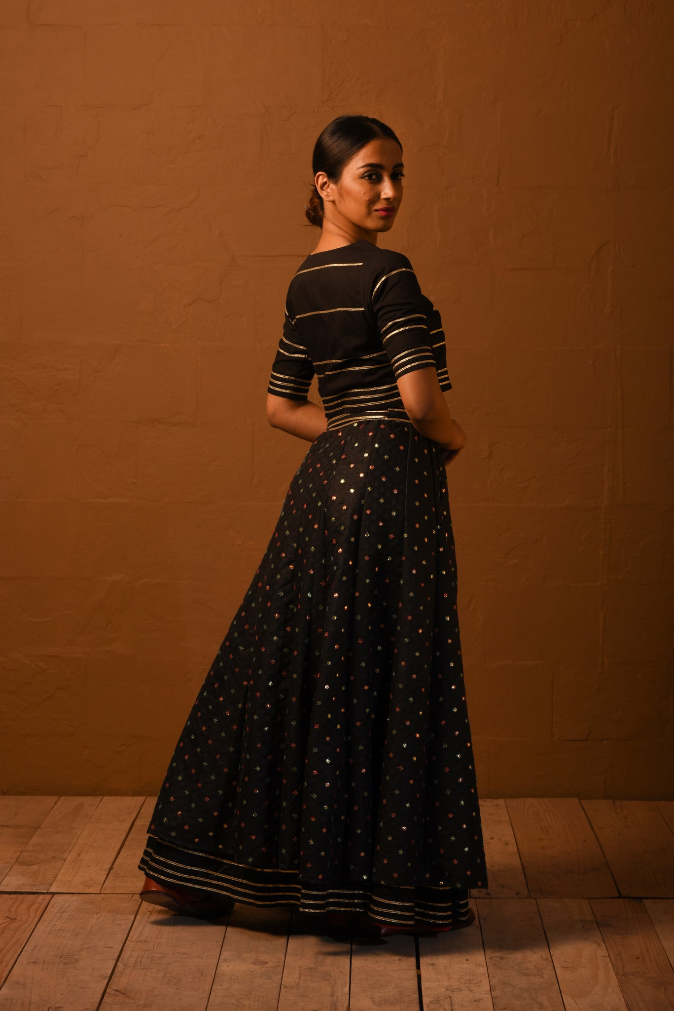 Lehenga with crop top