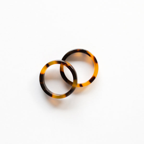 Tortoise Shell Ring Duo