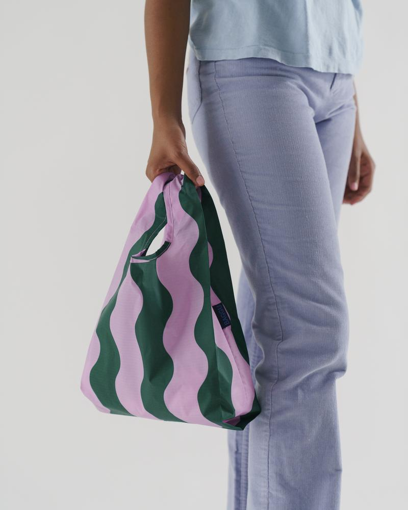 Baby Baggu – Pink and Green Wavy Stripe