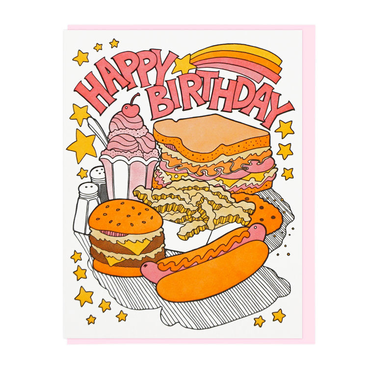 Birthday Fast Food Card