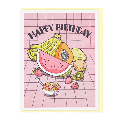 Fresh Fruits Birthday Card