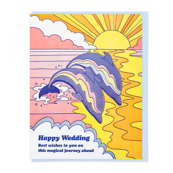 Happy Wedding Dolphins Card