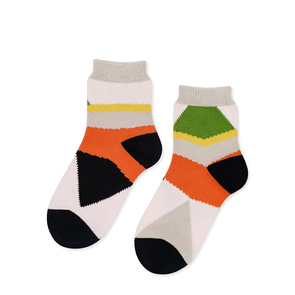 Colourblock Short Crew Socks