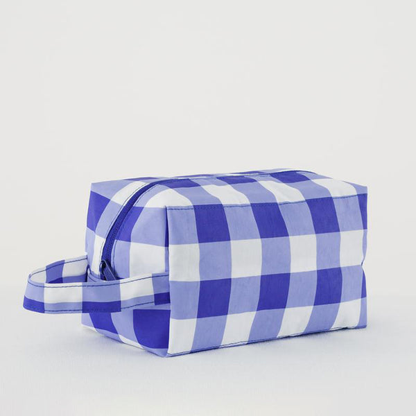 Dopp Kit - Big Blue Check