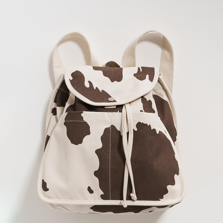Drawstring Backpack - Brown Cow