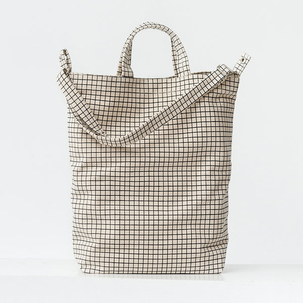Duck Bag – Natural Grid