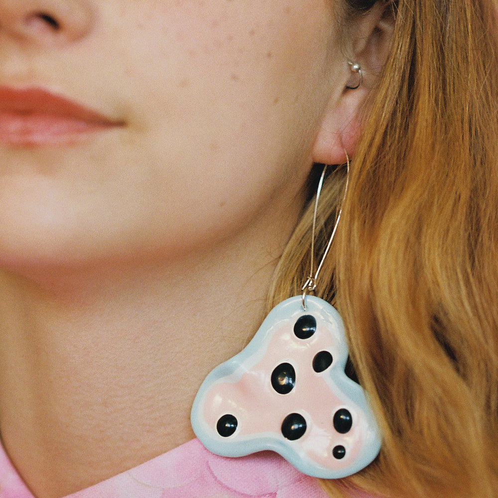 Fritter Earrings - Blue Crush