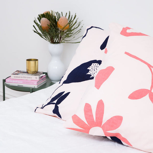 Floral Dreams Euro Pillowcases – Ink and Musk