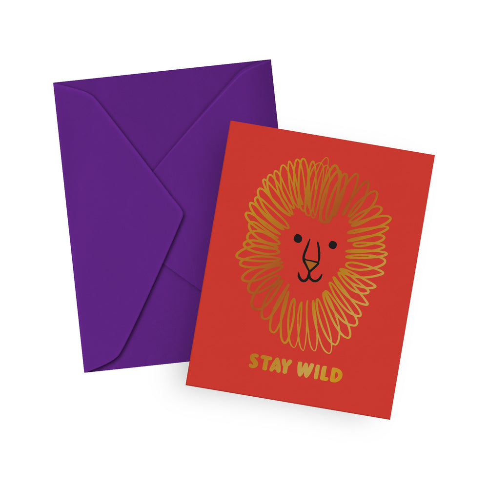 Stay Wild Greeting Card